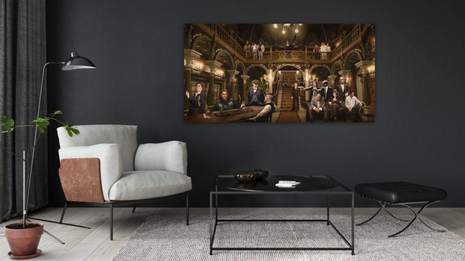 The Gangsters Reunion schilderij