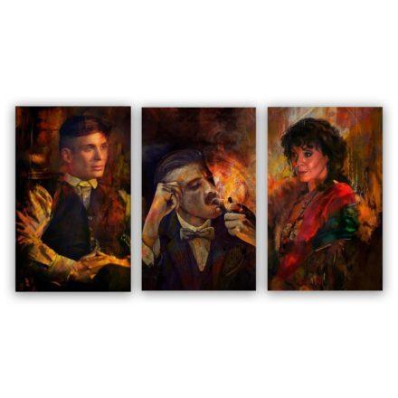 Peaky Blinders schilderij 3 luik