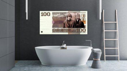 Holleeder/Van Hout 100 Gulden schilderij