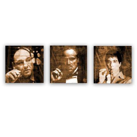 Scarface, Godfather, Soprano 3 luik schilderij