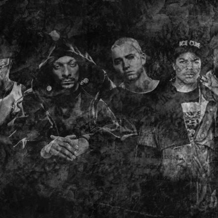 Rappers Eminem BW groot-min