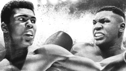 Mike Tyson-Mohammed Ali art style schilderij