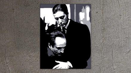 """Al Pacino """"Godfather"""" 1 luik schilderij"""