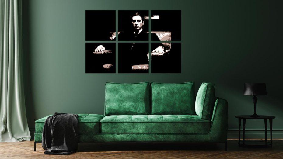 """Al Pacino """"Godfather"""" 6 luik schilderij"""