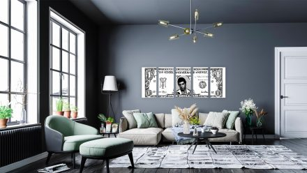 Al Pacino schilderij ( Scarface) 5 luik schilderij