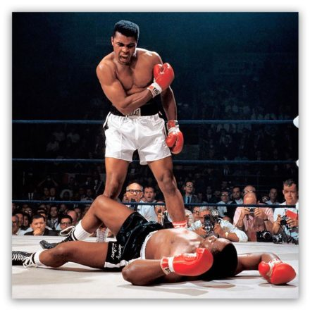 Mohammed Ali vs Liston schilderij