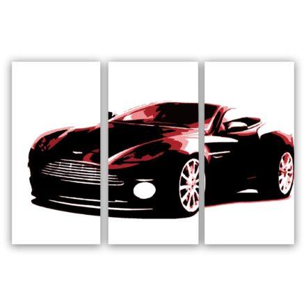Aston Martin 3 luik versie 2 schilderij