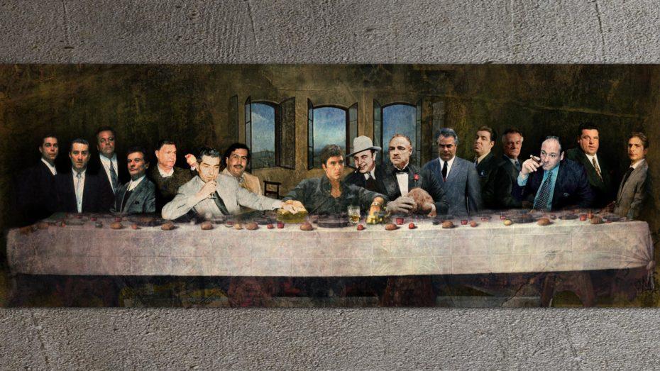 Maffia's Laatste Avondmaal schilderij