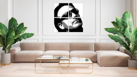 Bono 4 luik schilderij