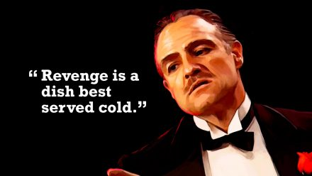 Don Corleone quote 3 schilderij