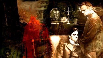 Don en Michael Corleone schilderij 1 luik