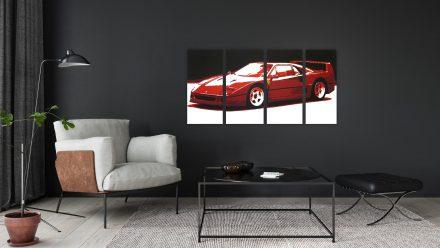 Ferrari 4 luik schilderij