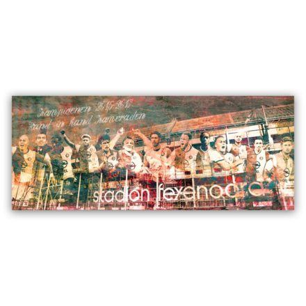 Feyenoord kampioenen schilderij