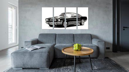 Ford Mustang 4 luik schilderij