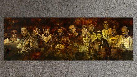 Gangsta Rappers schilderij