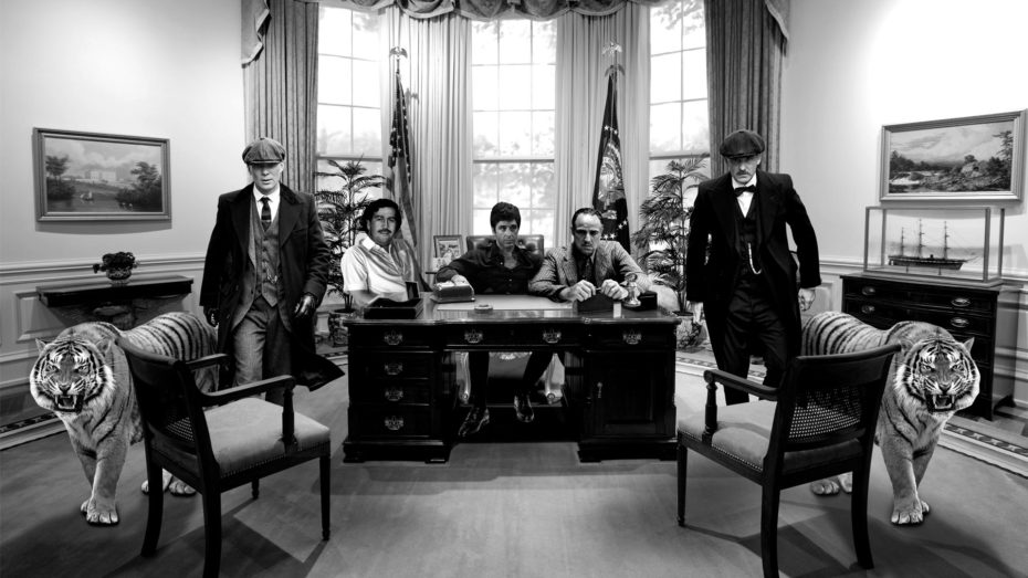 Gangsta's White House schilderij