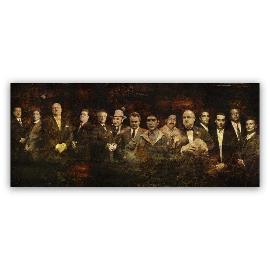 Gangster line up schilderij