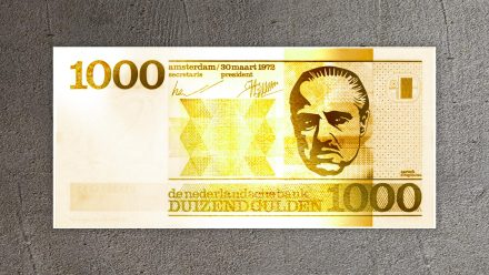 Godfather 1000 Gulden gold schilderij