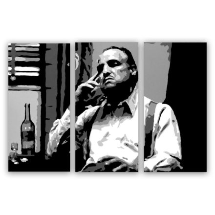 "Marlon Brando ""Godfather"" 3 luik schilderij"