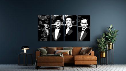 Godfather Corleone 4 luik schilderij