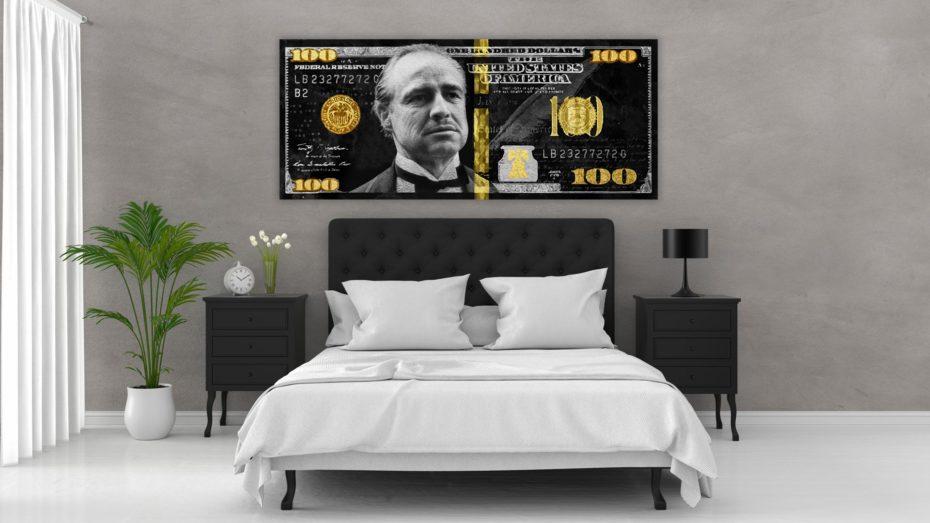 Godfather Gold/Silver 100 Dollar schilderij
