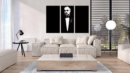 "Marlon Brando ""Godfather"" 3 luik versie 3 schilderij"