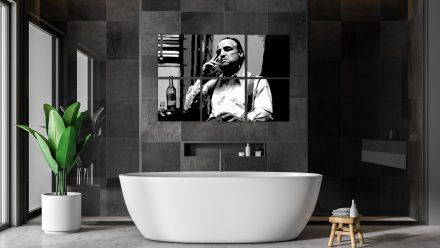 "Marlon Brando ""Godfather"" 6 luik schilderij"