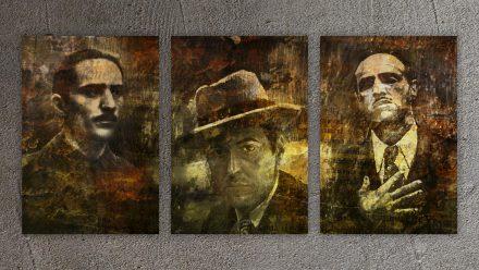 Godfathers schilderij 3 luik NEW