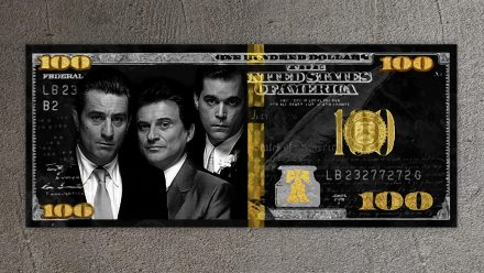 Goodfellas Gold/Silver 100 Dollar schilderij