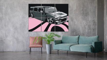 Hummer 6 luik schilderij