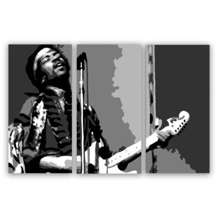 Jimi Hendrix 3 luik schilderij