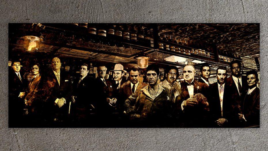 The Gangsters Line-Up In Old Bar schilderij