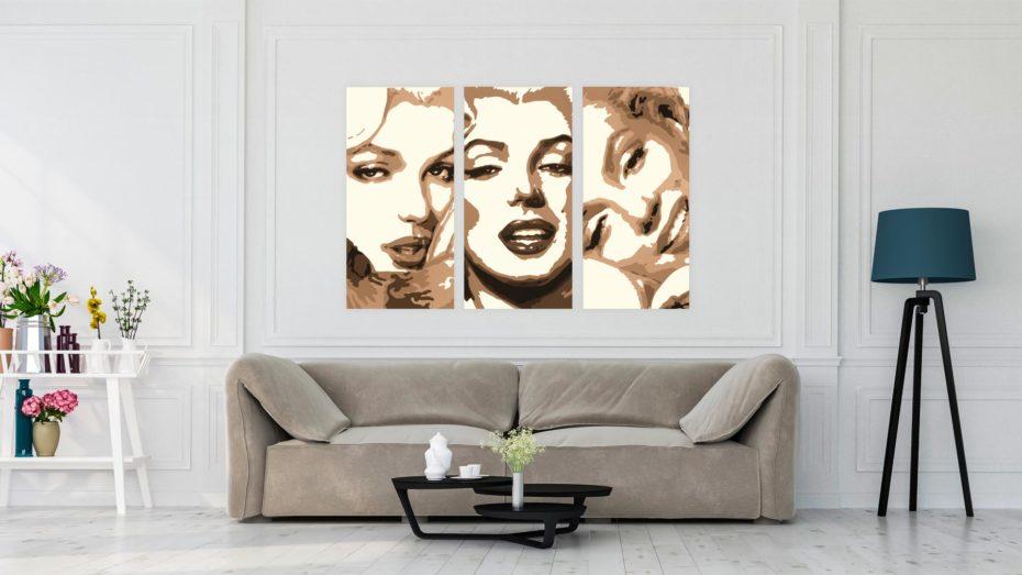 Marilyn Monroe 3 luik schilderij