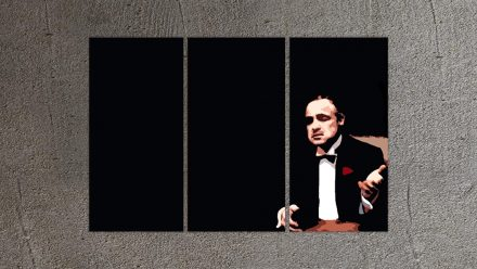 "Marlon Brando ""Godfather"" 3 luik versie 2 schilderij"