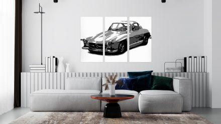Mercedes 3 luik schilderij
