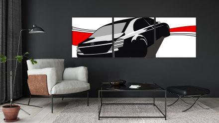 Mercedes 3 luik versie 2 schilderij