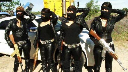 Mexican Gangster Chicks schilderij