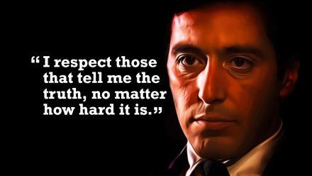 Michael Corleone quote 1 schilderij