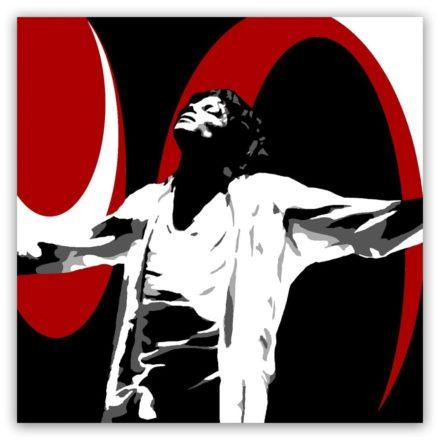 Michael Jackson sfeer 1 luik schilderij