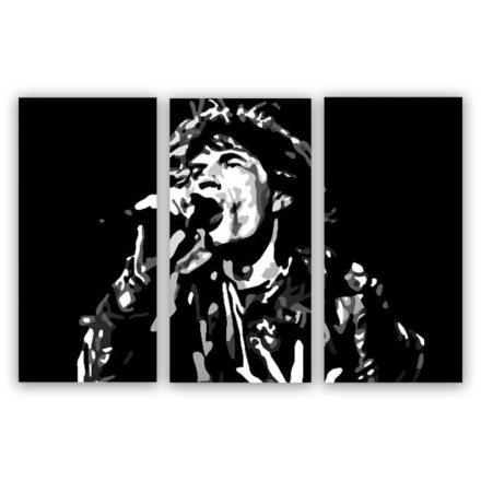 Mick Jagger schilderij 3 luik schilderij