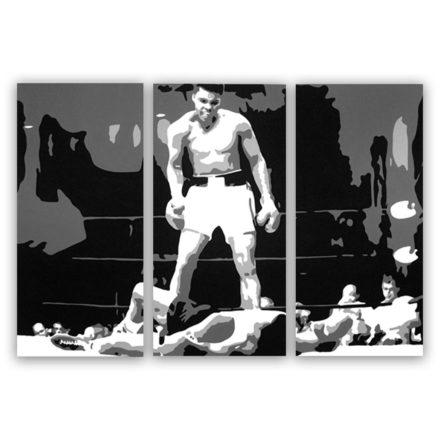 Mohammed Ali 3 luik schilderij