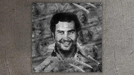 Pablo Escobar schilderij