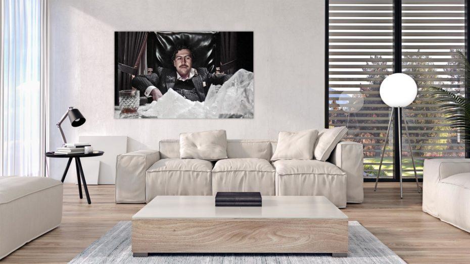 "Pablo ""Montana"" Escobar schilderij"