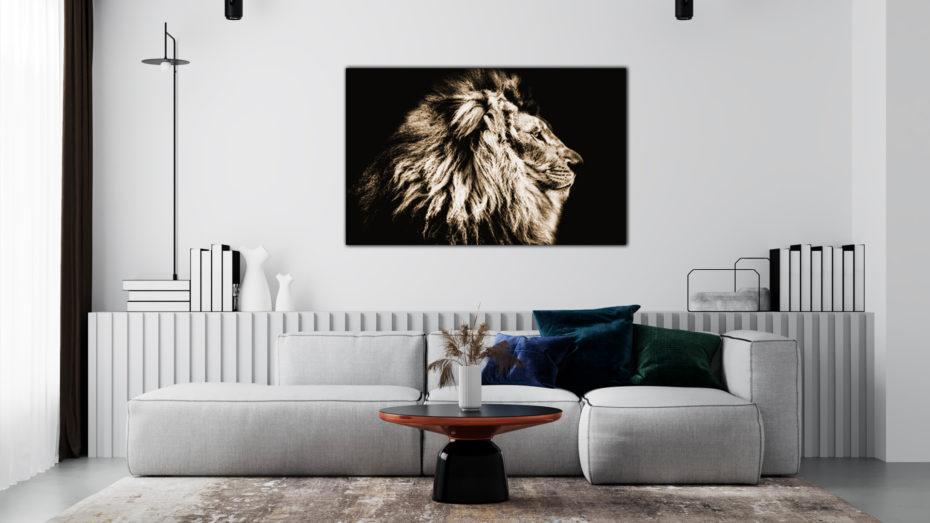 Zwart Wit Leeuw schilderij