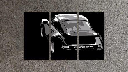 Porsche 3 luik versie 2 schilderij
