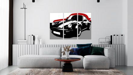 Porsche 3 luik versie 3 schilderij