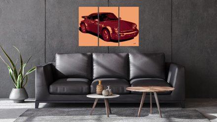 Porsche 3 luik schilderij