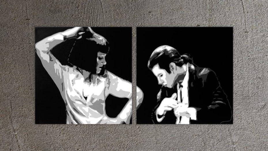 Pulp Fiction 2 luik schilderij