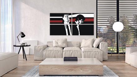 Pulp Fiction 4 luik schilderij