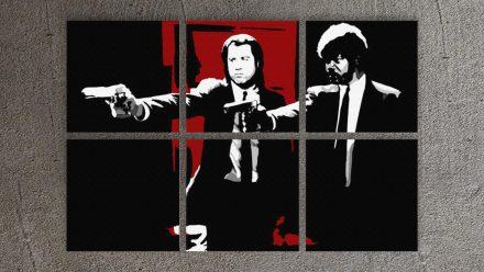 Pulp Fiction 6 luik schilderij